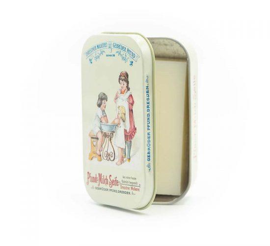 Der Pfunds Seifenladen - Milchseife in historischer Verpackungsdose