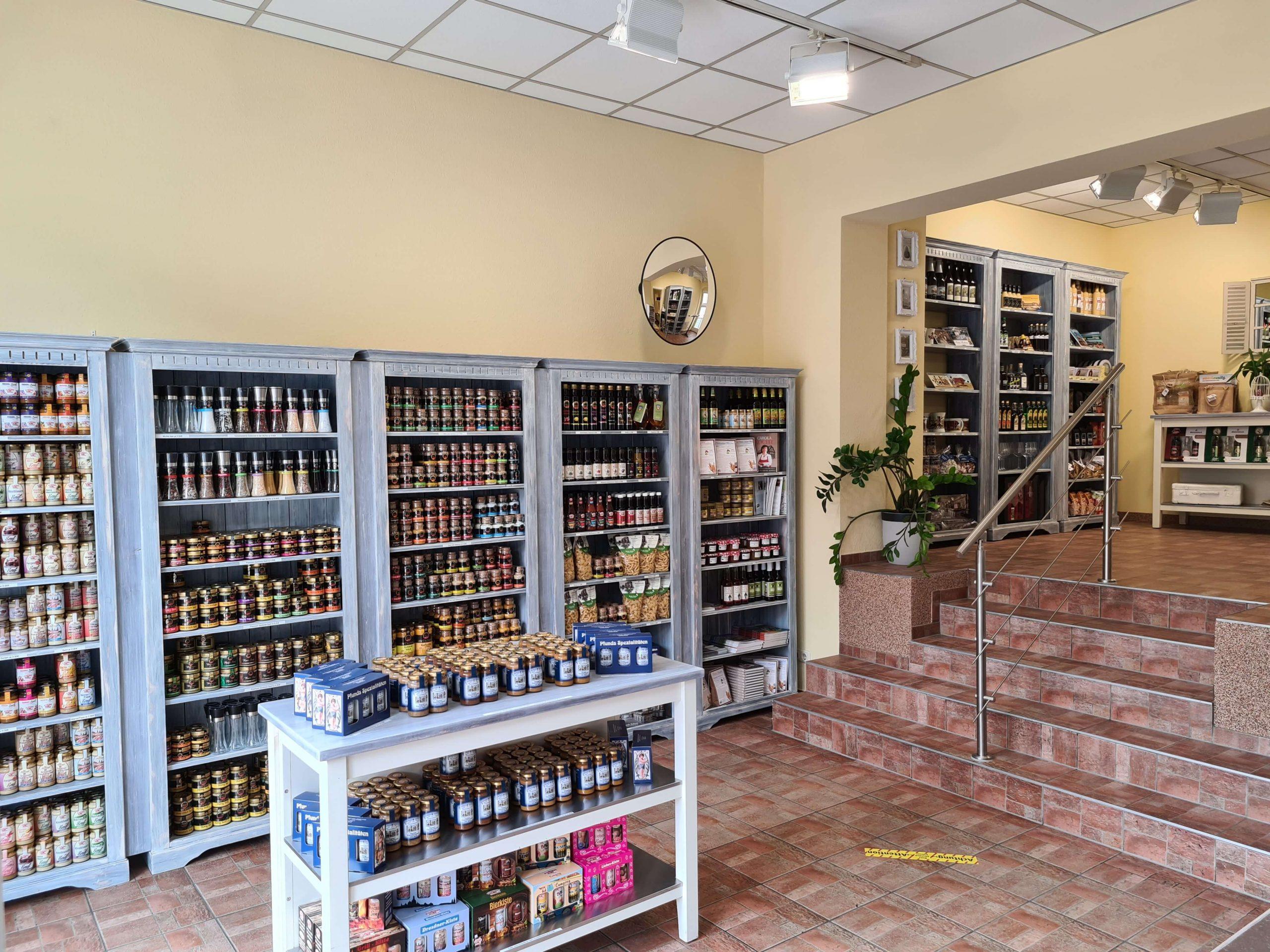 Eingangsbereich Spezialitätenladen