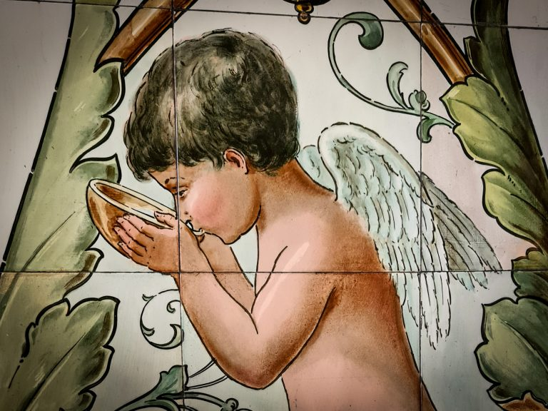 Drinking angel