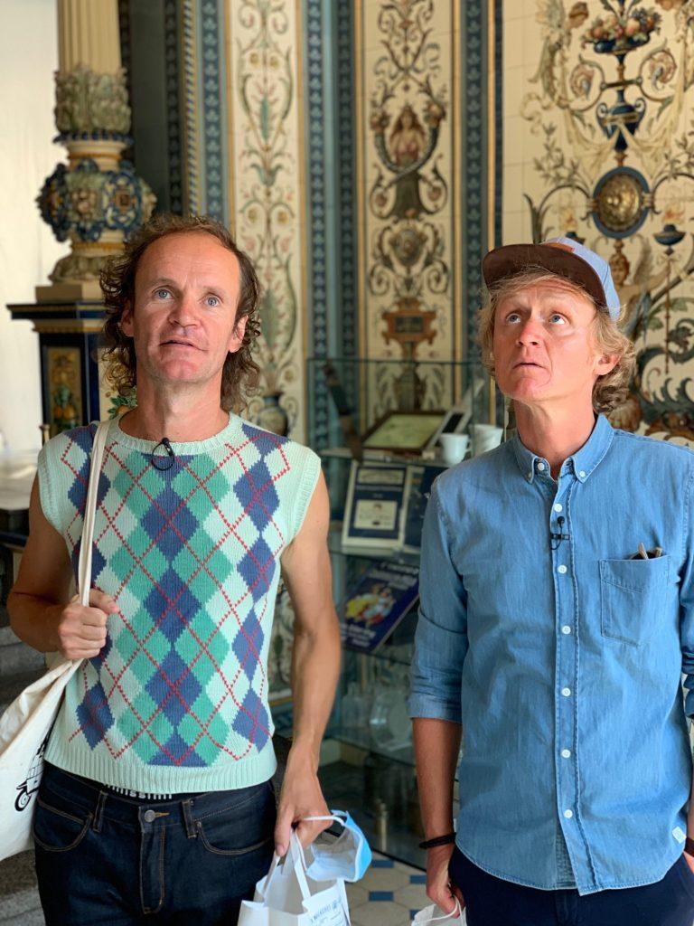 prominenter Besuch in der Pfunds Molkerei - Pierre M. Kraus und Olaf Schubert