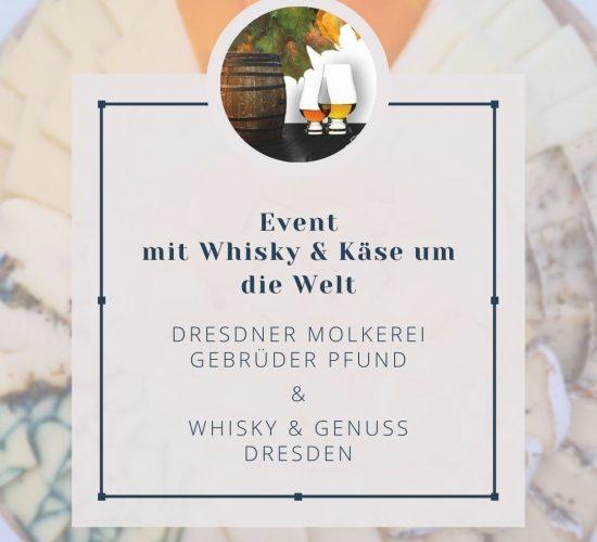Event im November - mit Whisky & Käse um die Welt